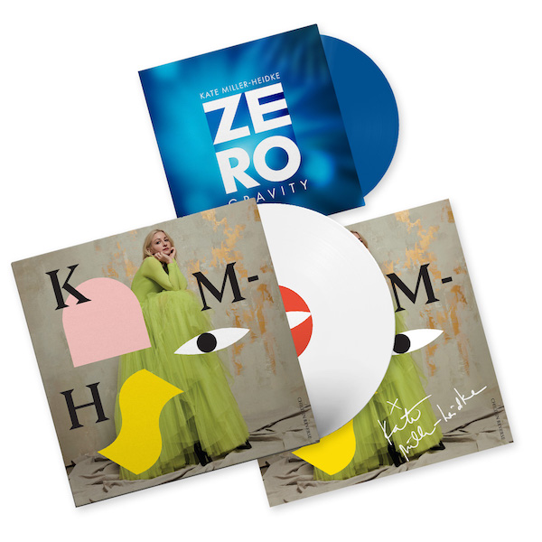 White vinyl Child In Reverse and blue Zero Gravity
