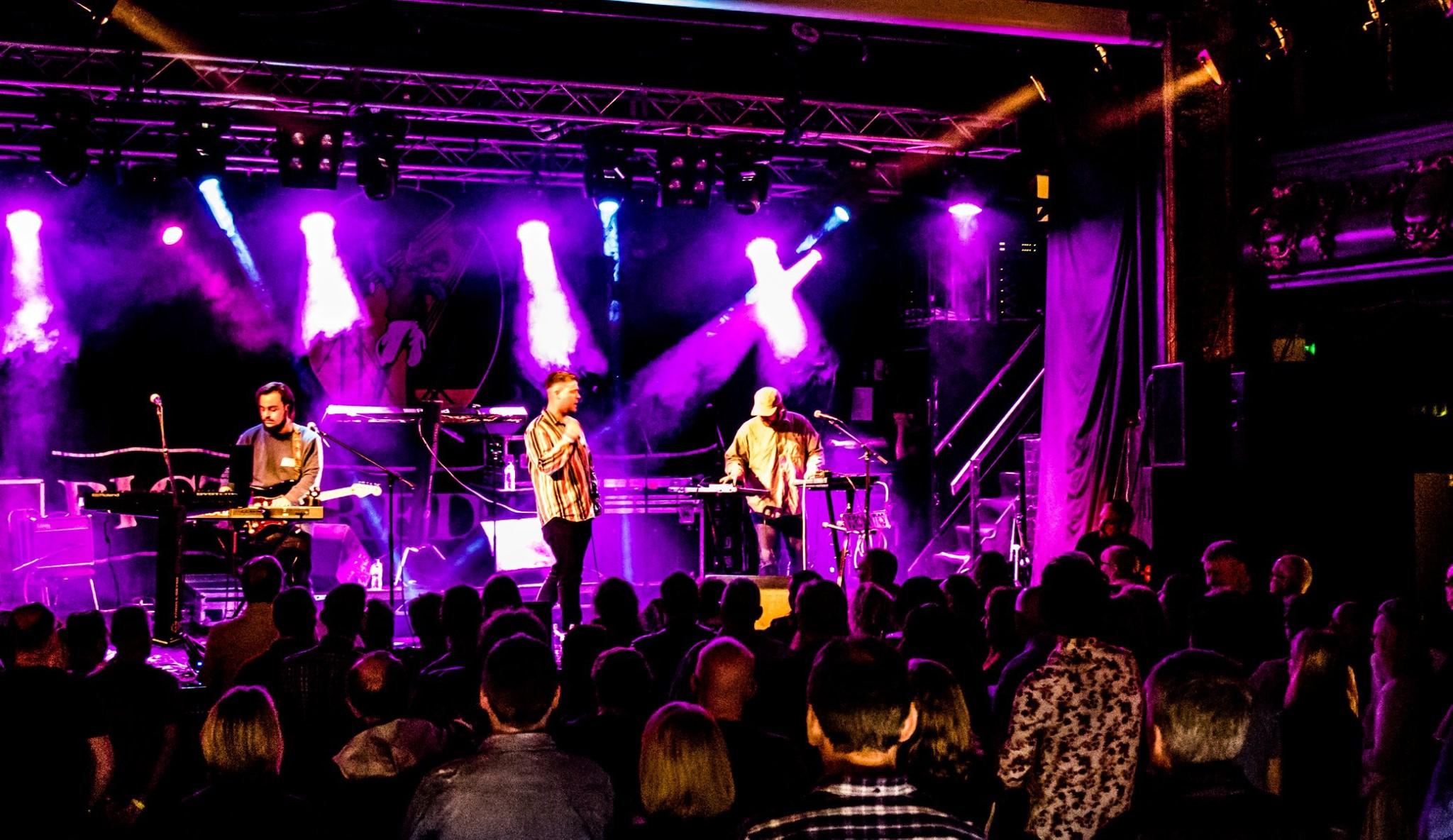 Vuromantics onstage at Holmfirth Picturedrome