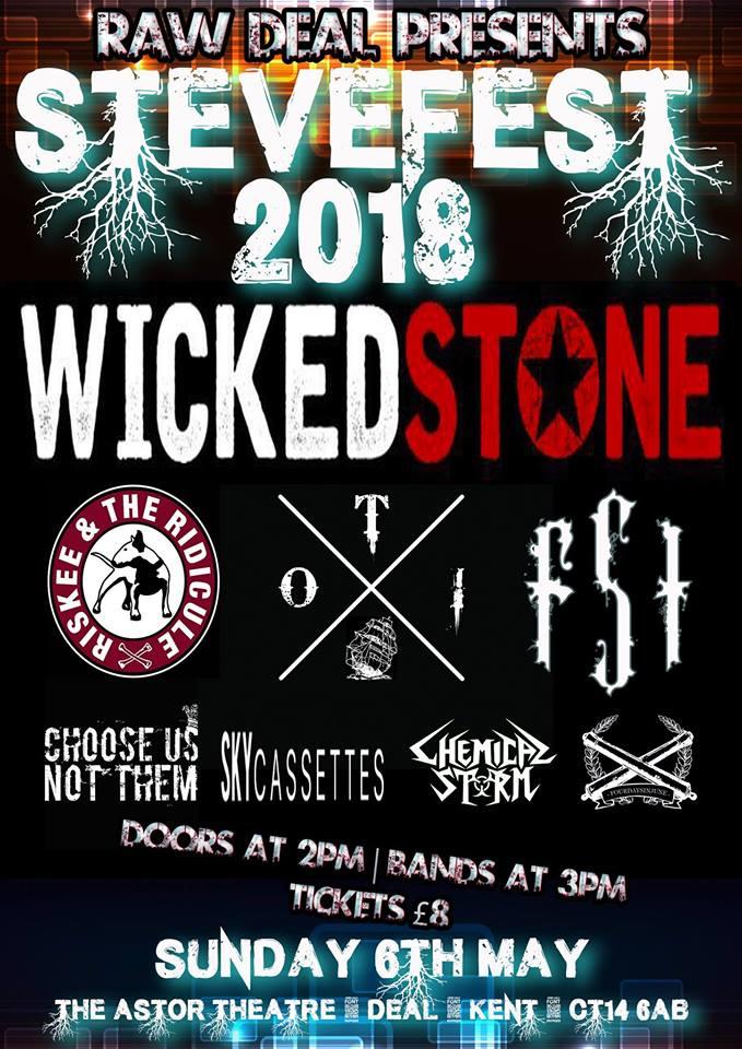 Poster showing Steve fest lineup