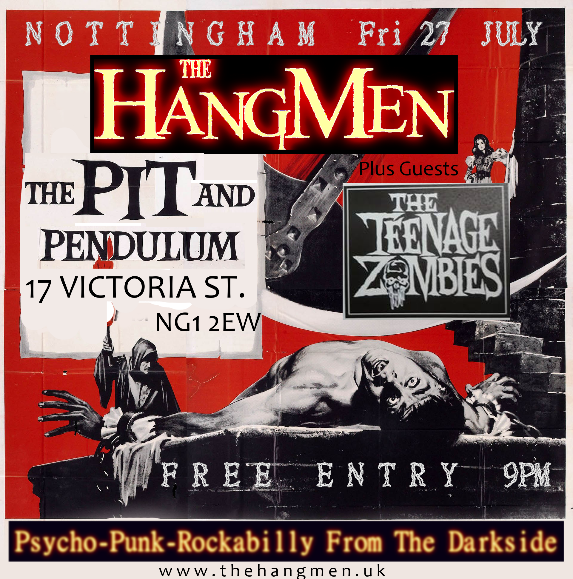 Pit and Pendulum gig Flyer