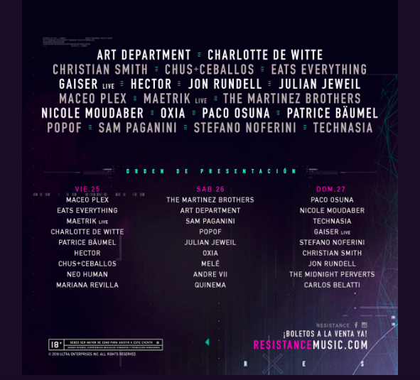 Resistance Mexico Line up