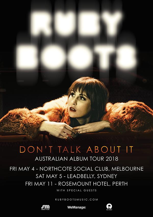 Ruby Boots Australian Tour Poster