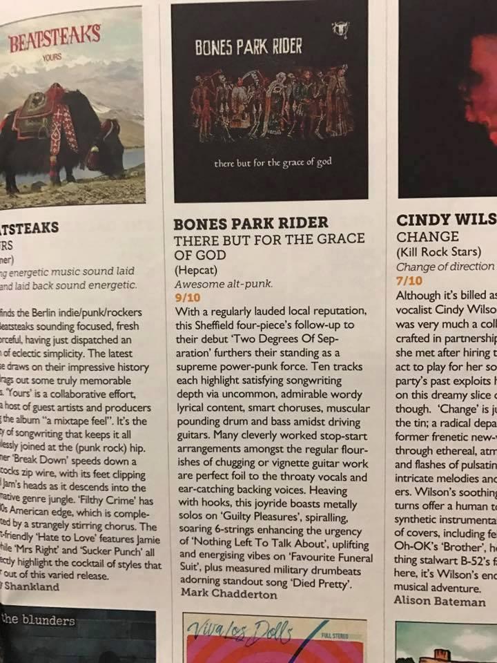 Bones Park Rider album review in Vive Le Rock