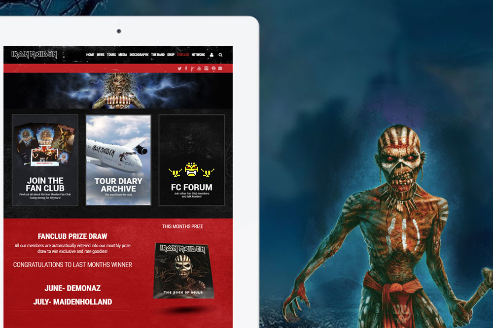 Iron Maiden email template
